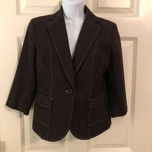 Ann Taylor Loft Size 4 brown casual blazer